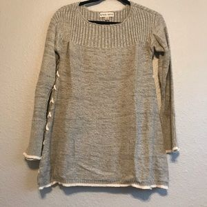Knox Rose Lace Up Sweater | Gray